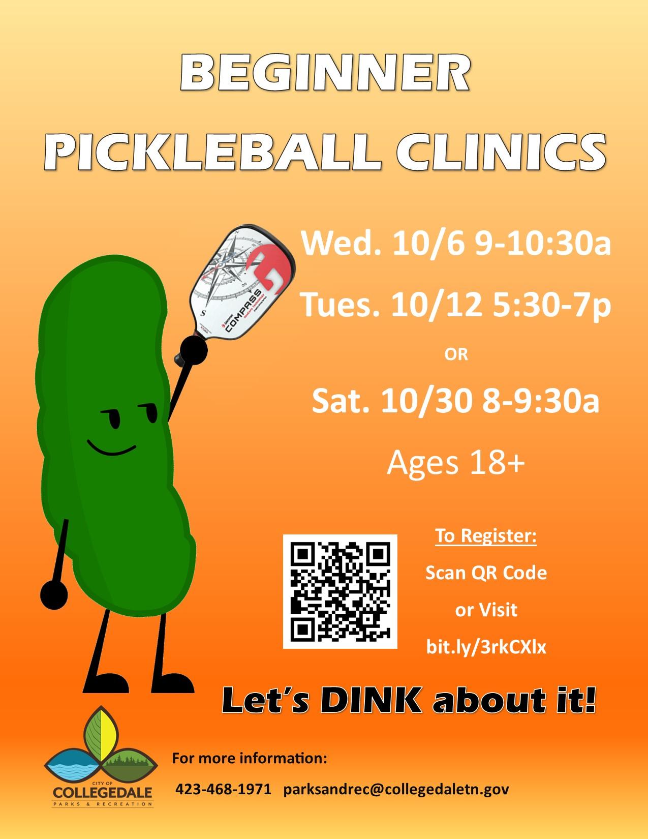 Pickleball Clinic Adults Oct 2021